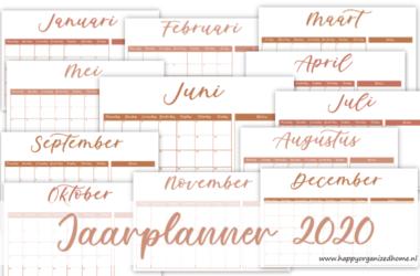 GRATIS DOWNLOAD: JAARPLANNER 2020