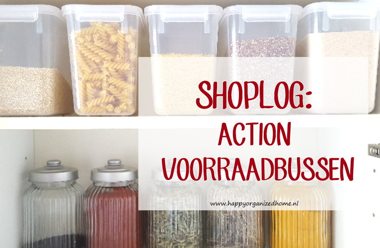 SHOPLOG: ACTION VOORRAADBUSSEN VOOR EEN NETTE UITSTRALING IN DE KEUKENKAST