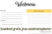 weekmenuplanner, weekmenu, planner