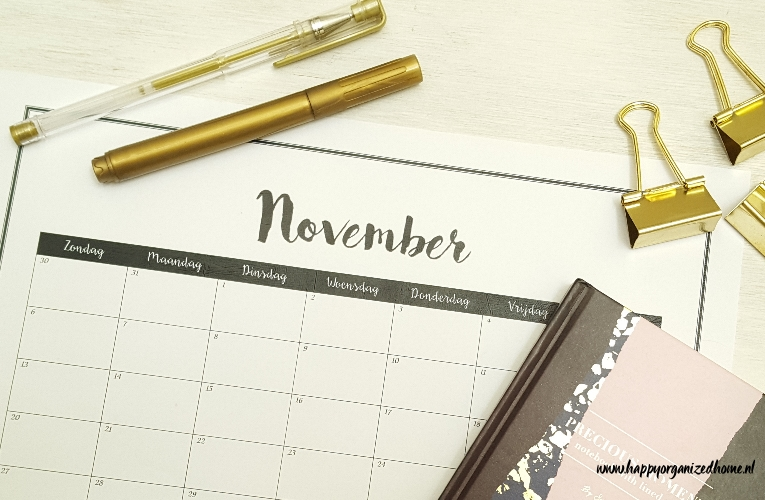 PLANNING MAAND NOVEMBER