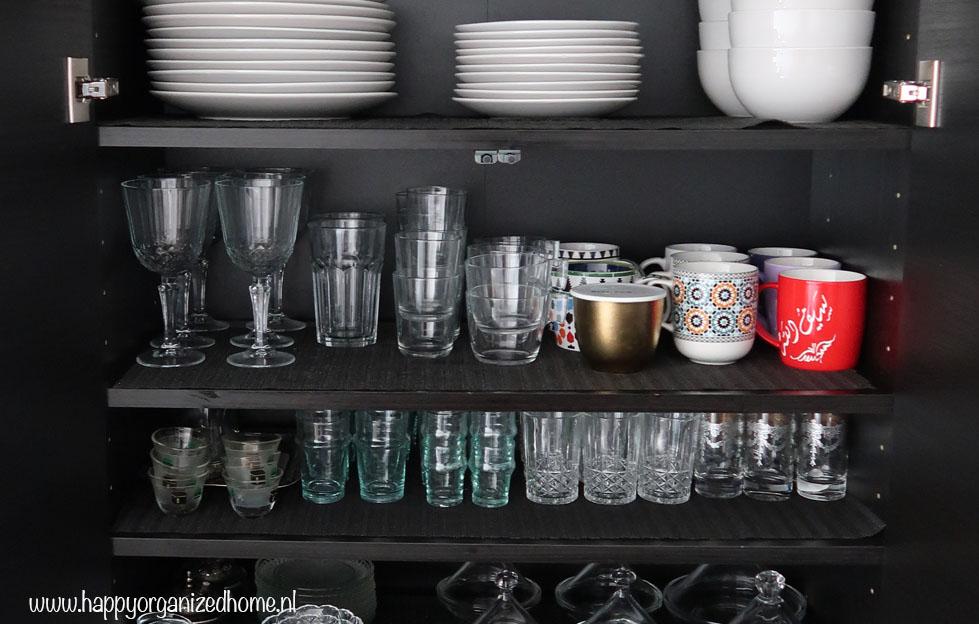 keukenkastjes, serviesgoed